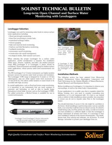 levelogger surface water monitoring technical bulletin