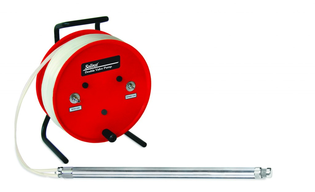 Solinst Model 408 Double Valve Pump on a Portable Tubing Reel