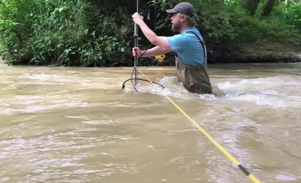 karst spring high flow measurement
