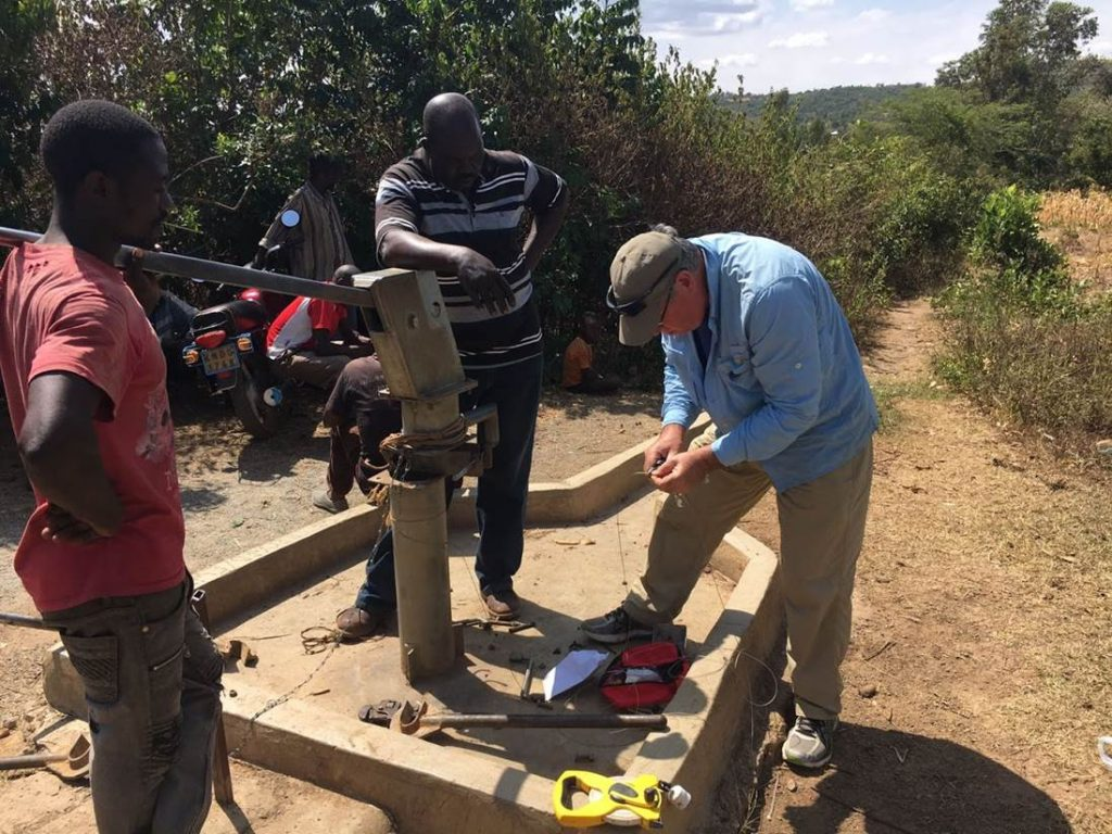 installing a solinst levelogger in a groundwater monitoring network in kenya