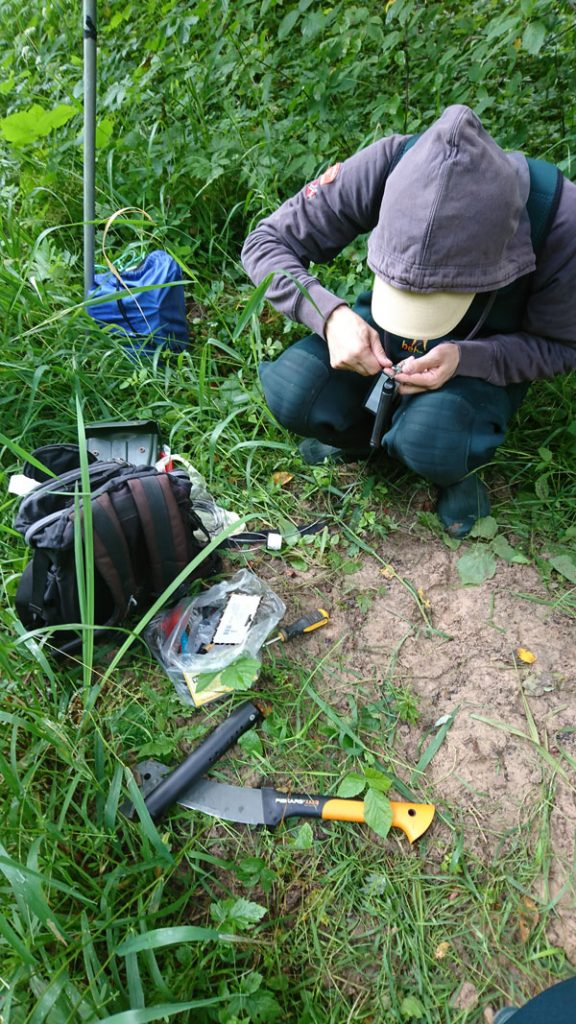 preparing levelogger water level datalogger for stream monitoring