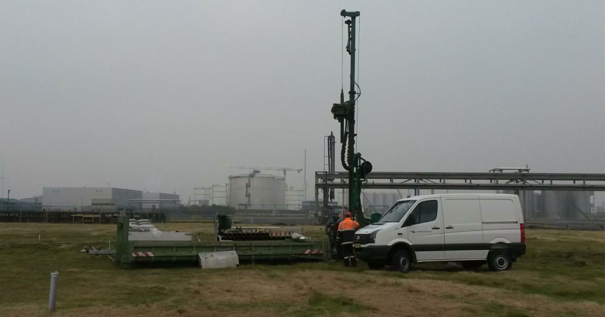 drilling a groundwater monitoring well