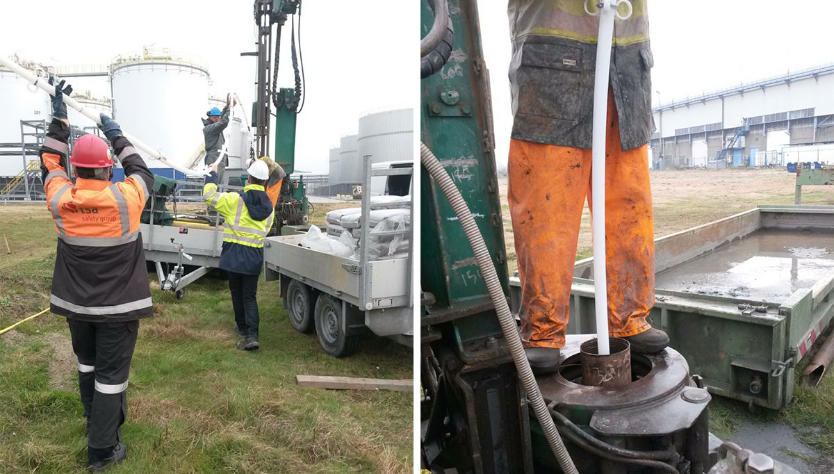 installing solinst cmt multilevel groundwater monitoring system into well