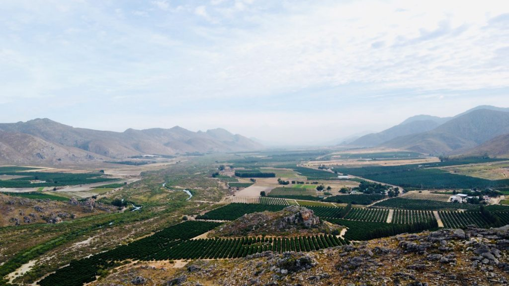 photo of the agricultural region of citrusdal that relies on groundwater