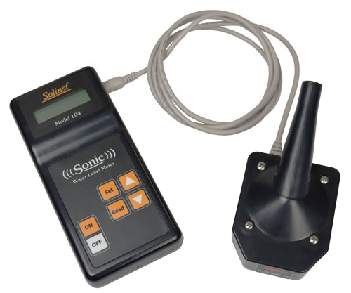 solinst model 104 sonic water level meter probe and control unit