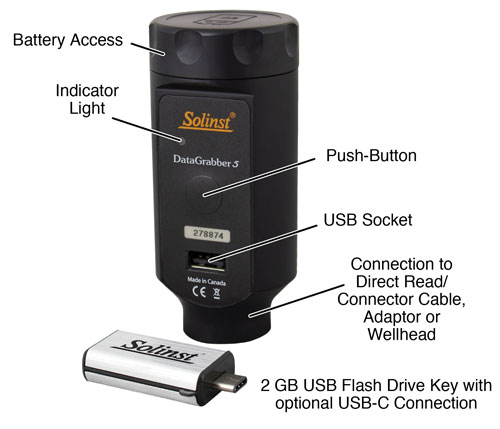 solinst datagrabber data transfer device groundwater dataloggers