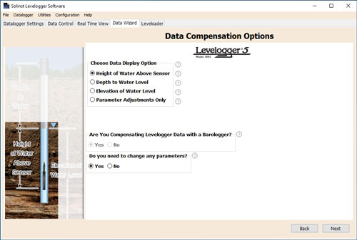 Figure 8-5 Advanced Data Compensation Options