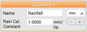 solinst levelogger app rainfall channel para android