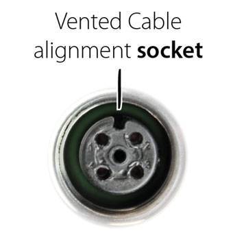 solinst levelvent connector alignment socket in the vented cable connectors