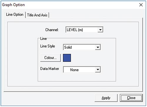 solinst sts edge graph option dialog window
