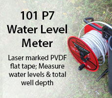 measure water levels & total well depth with 101 p7 water level meter