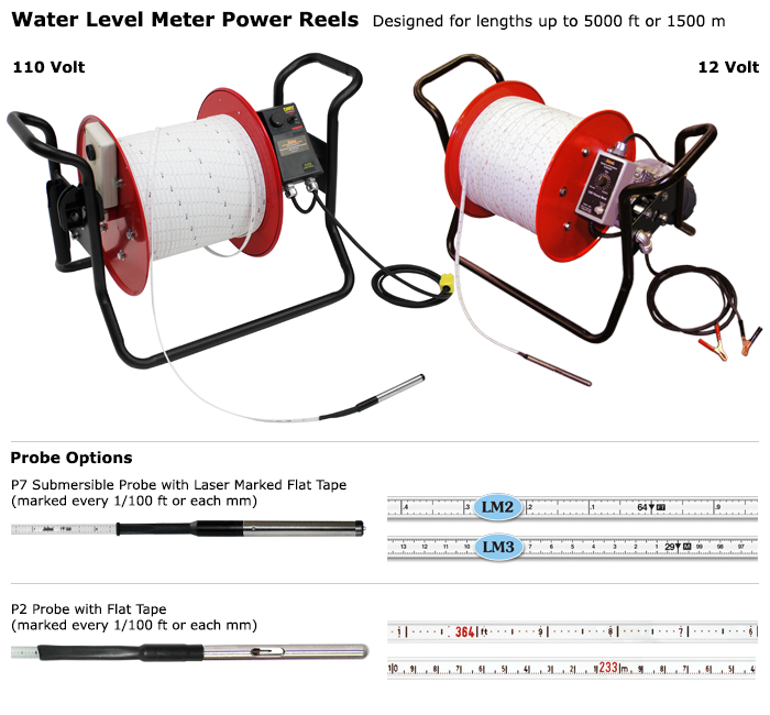 Water Level Meter Power Reel