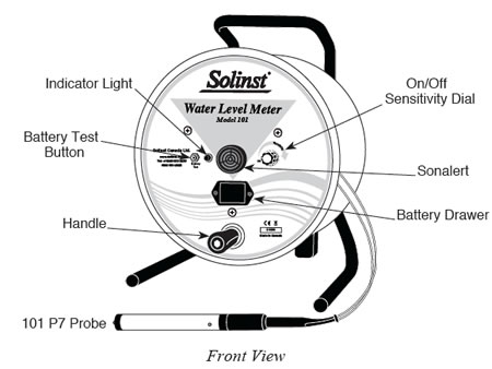 solinst model 101 p7 water level meter front view