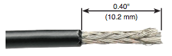 solinst 102 coaxial cable shown with stripped tip