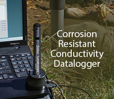 corrosion resistant conductivity datalogger